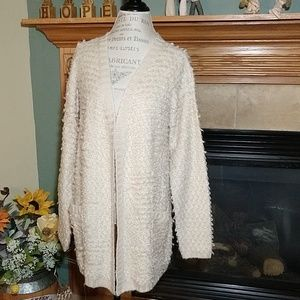 Maurice's long cardigan sweater cream medium